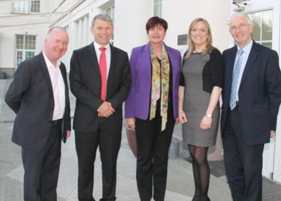 Johnny Walsh, Seamus Duffy (Chairman BACD Ltd) Ann Phelan TD (Minister for Rural Affairs & Transport), Lyn Donnelly (BACD Ltd Manager), Senator Micheal Mullins